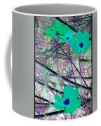 Abstract Flowrs In Green And Blue Coffee Mug