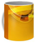Abstract Golden Arcs And Lines Coffee Mug