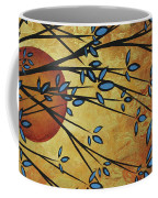 Abstract Golden Landscape Art Original Painting Peaceful Awakening I Diptych Set By Megan Duncanson Coffee Mug