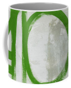 Abstract Green Circle 2- Art By Linda Woods Coffee Mug