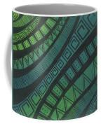 Abstract Green Coffee Mug