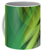 Abstract Green Vector Background Banner, Transparent Wave Lines  Coffee Mug