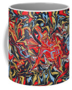 Abstract In Red Coffee Mug