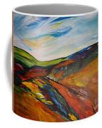 abstract landscape-Haloze Coffee Mug
