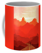 Abstract Landscape Mountain Road Art 5 - By Diana Van Coffee Mug
