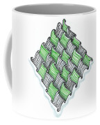 Abstract Line Design In Black And Green Coffee Mug