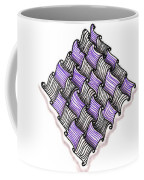 Abstract Line Design In Black And Purple Coffee Mug