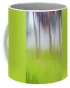 Abstract Moving Trees #1 Background Coffee Mug