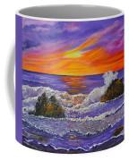 Abstract Ocean- Oil Painting- Puple Mist- Seascape Painting Coffee Mug