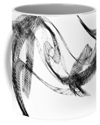 Abstract Of Dolphins In Courting Ritual Coffee Mug