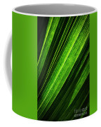 Abstract Of Green Leaf Of Exotic Palm Tree Coffee Mug