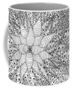 Abstract Pen And Ink Design In Black And White Coffee Mug