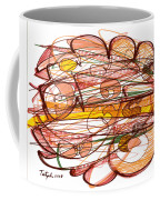 Abstract Pen Drawing Eight Coffee Mug
