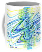 Abstract Pen Drawing Forty Coffee Mug