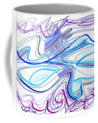 Abstract Pen Drawing Forty-two Coffee Mug