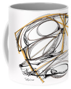 Abstract Pen Drawing Four Coffee Mug