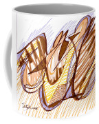 Abstract Pen Drawing Nine Coffee Mug