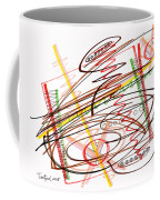 Abstract Pen Drawing Seven Coffee Mug