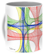 Abstract Pen Drawing Seventeen Coffee Mug