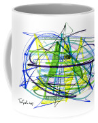 Abstract Pen Drawing Thirty Coffee Mug