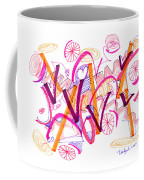 Abstract Pen Drawing Twenty-six Coffee Mug