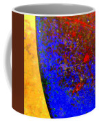 Abstract Photo Blue Yellow Coffee Mug