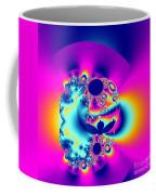 Abstract Pink And Turquoise Fractal Globe Coffee Mug