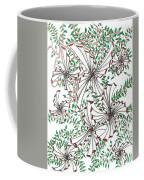 Abstract Red And Green Design  Coffee Mug
