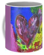 Abstract Red Heart Acrylic Painting Coffee Mug