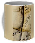 Abstract Rock Pocked With Holes And Divided By Lines Coffee Mug