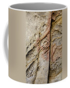 Abstract Rock Stained With Red And Gold Coffee Mug