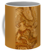 Abstract Rock With Swirling Lines Coffee Mug