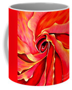 Abstract Rosebud Fire Orange Coffee Mug