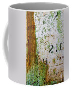 Rust Absract With Stenciled Numbers Coffee Mug