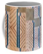 Wood And Blue Coffee Mug