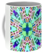 Abstract Seamless Pattern  - Blue Green Purple Pink White Coffee Mug