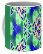 Abstract Seamless Pattern - Blue Green Turquoise Red White Coffee Mug