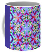 Abstract Seamless Pattern  - Blue Pink Purple Red Green Brown White Coffee Mug