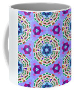 Abstract Seamless Pattern  - Blue Purple Pink Violet Lilac Orange Green Coffee Mug