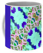 Abstract Seamless Pattern  - Blue Turquoise Green Pink White Coffee Mug