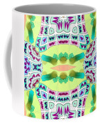 Abstract Seamless Pattern  - Yellow Blue Turquoise Purple Pink White Green Coffee Mug