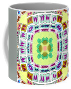 Abstract Seamless Pattern  - Yellow Green Blue Purple White Gray Coffee Mug