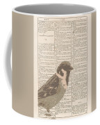 Abstract Sparrow On Dictionary Coffee Mug