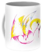 Abstract Swan Coffee Mug