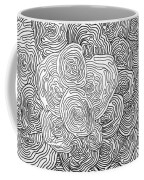 Abstract Swirl Design In Black And White #1 Coffee Mug