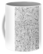 Abstract Swirl Design In Black And White Coffee Mug