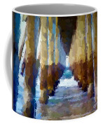 Abstract Under Pier Beach Coffee Mug