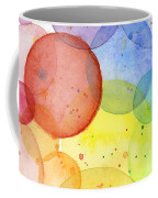 Abstract Watercolor Rainbow Circles Coffee Mug