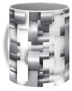 Abstract White And Grey Coffee Mug