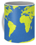 Abstract World Map 0317 Coffee Mug